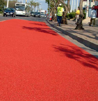 Bus lane Anti Slip and Color Demarcation application